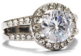 New York & Co. Sparkling Silvertone Ring