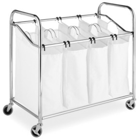 Whitmor 4-Section Rolling Laundry Sorter