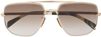 David Beckham Square Aviator Tinted Sunglasses