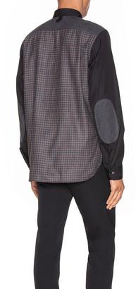 Junya Watanabe Long Sleeve Shirt in Black & Grey & Brown & Black | FWRD