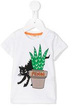 Fendi cat print T-shirt - kids - Cotton - 3 mth