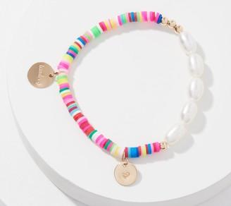 Taudrey Rainbow and Pearl Stretch Bracelet