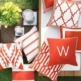 Williams-Sonoma Williams Sonoma Outdoor Printed Salinas Stripe Pillow, Melon