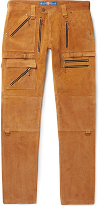 Blackmeans Slim-Fit Suede Trousers