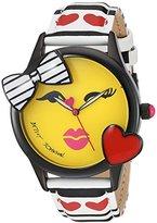 Betsey Johnson Women's Quartz Metal and Polyurethane Casual WatchMulti Color (Model: BJ00610-01)