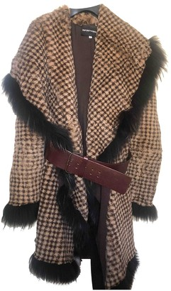 Emporio Armani Brown Rabbit Coat for Women