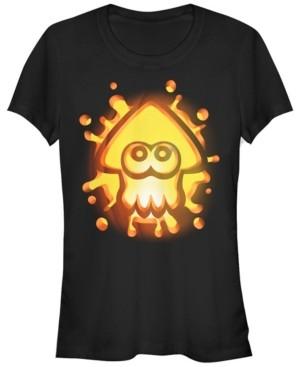 Fifth Sun Nintendo Women's Splatoon Inkling Halloween Pumpkin Short Sleeve Tee Shirt
