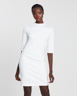 Alice + Olivia Delora Mock Neck Fitted Dress