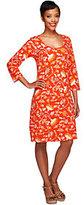 As Is Liz Claiborne New York 3/4 Sleeve Floral Print Knit Dress