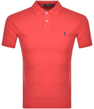 Ralph Lauren Slim Fit Polo T Shirt Red