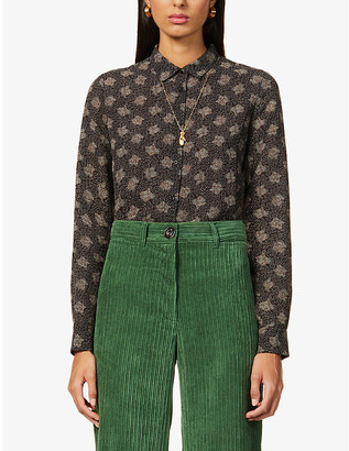 Sessun Mimia floral-print stretch-recycled polyester top