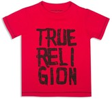 True Religion Boys' Chalk Letter Logo Tee - Little Kid