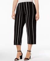 Alfani Plus Size Striped Culottes, Created for Macy's