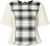 3.1 Phillip Lim plaid knitted top - women - Cotton/Viscose - 0