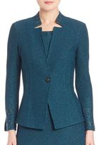 St. John One Button Fitted Jacket