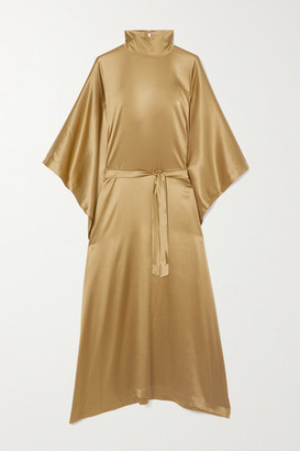 Taller Marmo Odeon Metallic Silk-blend Satin Kaftan - Bronze