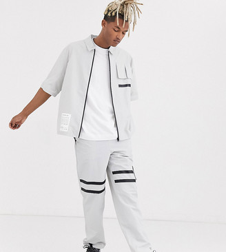 Collusion straight fit utility trouser