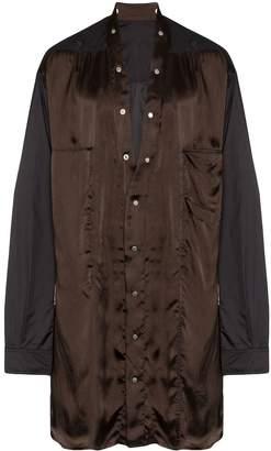 Rick Owens long-line silk shirt