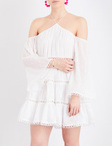 Zimmermann Jasper Dot Floating off-the-shoulder cotton-voile dress