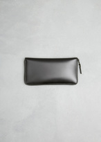 Comme des Garcons very black zip long wallet