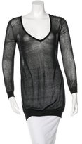 Alice + Olivia Sheer V- Neck Sweater