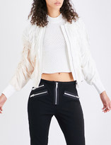 3.1 Phillip Lim Ruched silk-crepe de chine bomber jacket