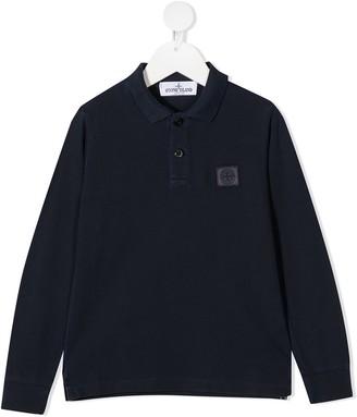 Stone Island Junior Long-Sleeve Polo Shirt