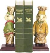 Sterling Home Pair of Chef Bunny Bookends, Tall