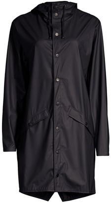 Rains Long Hooded Raincoat