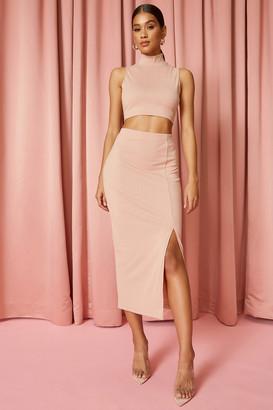 superdown Ribbed Midi Skirt Set
