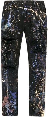 Dolce & Gabbana Colour Splash-Effect Jeans