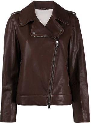 Brunello Cucinelli regular-fit zip-up biker jacket