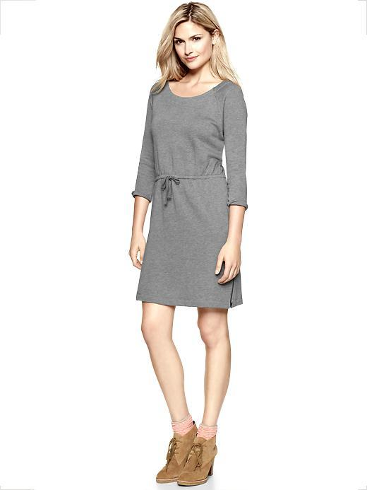 Gap Tie-waist sweatshirt dress