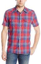 Lucky Brand Men's Short-Sleeve Santa Fe Western Shirt