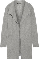 James Perse Waffle-knit Cashmere Cardigan - Gray