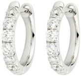 Mikimoto Jude Frances 18K White Gold 0.60ct. Diamond Hoop Earrings