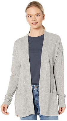 tentree Alouette Long Sleeve Cardigan (High-Rise Grey Marled) Women's Sweater