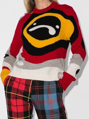 Charles Jeffrey Loverboy x Browns 50 Sad Echo intarsia-knit jumper