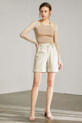 J.ING Savannah Creamy Beige Midi Shorts