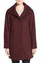 Ellen Tracy Women's Convertible Collar Kimono Sleeve Coat