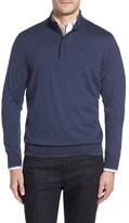 Paul & Shark Men's Stand Collar Henley Sweater