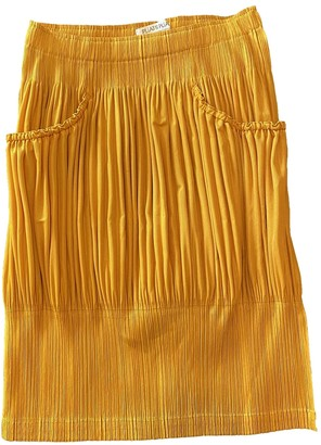 Pleats Please Yellow Polyester Skirts