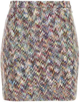 Missoni Crochet-knit Wool Mini Skirt