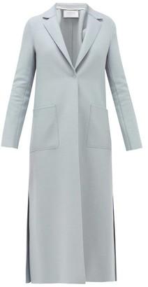 Harris Wharf London Side-split Single-breasted Felted-wool Coat - Womens - Light Blue