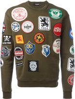 DSQUARED2 patch detail sweatshirt - men - Cotton - M