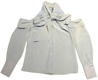 Erdem Blue Silk Top for Women