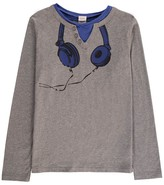 Little Karl Marc John Tocku Henley Neck Helmet T-Shirt