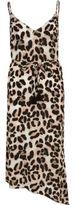 River Island Womens Brown leopard print cami beach dress