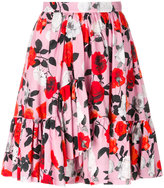 MSGM floral flare skirt