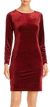 T Tahari Long-Sleeve Velvet Dress